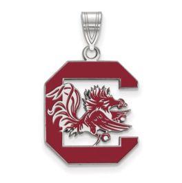 Sterling Silver University Of South Carolina Large Enamel Pendant