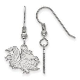 Sterling Silver University Of South Carolina Small Dangle Earrings