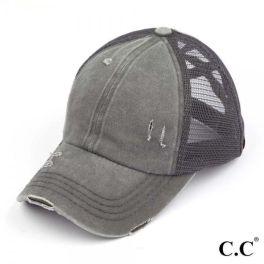 CC Pony Hat - Grey/Grey