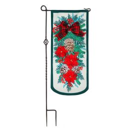 Holiday Floral Swag Everlasting Textile Decor