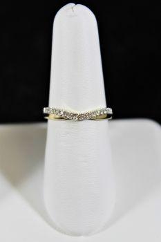 14K Yellow Gold Diamond Curve Band - .16CT