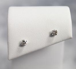14K Yellow Gold Diamond Stud Earrings - .30CT