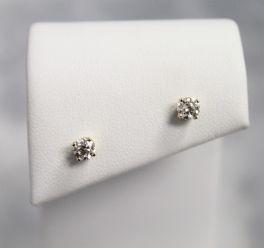 14K Yellow Gold Diamond Earrings - 1/2CT