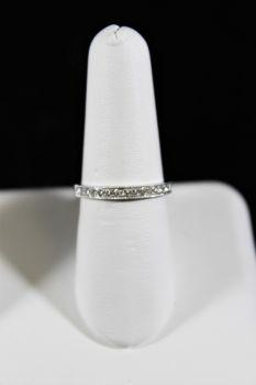 14K White Gold Diamond Milgrain Band - .25CT