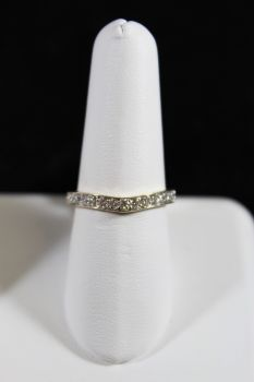 14K Yellow Gold Diamond Curved Wedding Band - .40CT