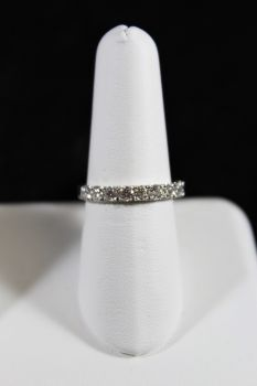 14K White Gold Diamond Wedding Band - 1CT