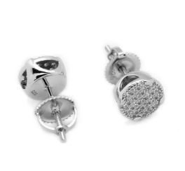 Kids Sterling Silver Micro Pave Earrings