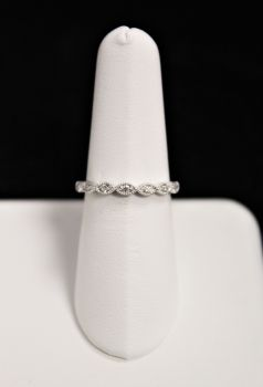 10K White Gold Diamond Band - .10CT