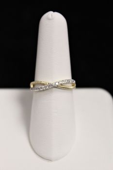 10K Yellow Gold Diamond Twist Ring - .25CT