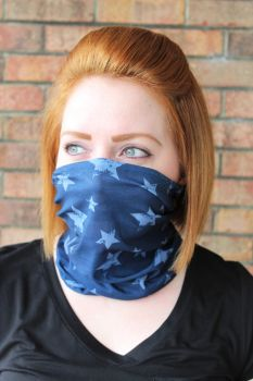Adult Seamless Neck Gaiter - Blue Star