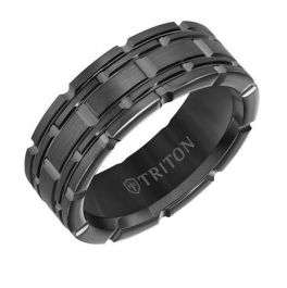 Men's Tungsten Carbide Gunmetal 7mm Ring