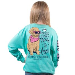 Simply Southern Paw Prints Long Sleeve T-Shirt - YOUTH