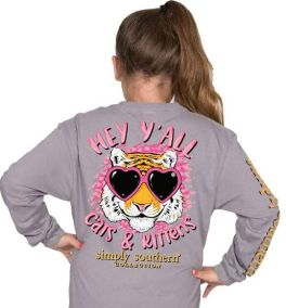 Simply Southern Kitten Long Sleeve T-Shirt - YOUTH