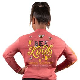 Simply Southern Bee Kind Long Sleeve T-Shirt - YOUTH