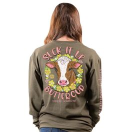 Simply Southern Suck It Up Buttercup Long Sleeve T-Shirt - YOUTH