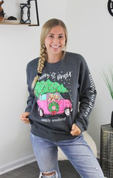 Simply Southern Merry & Bright Crewneck Sweatshirt