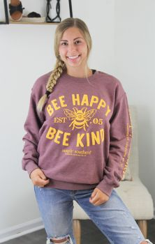 Simply Southern Bee Happy Crewneck Sweatshirt