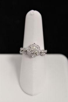 10K White Gold Diamond Engagement Set - .38CT