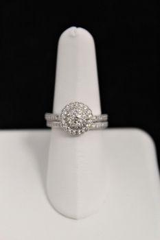 10K White Gold Diamond Engagement Set - .75CT