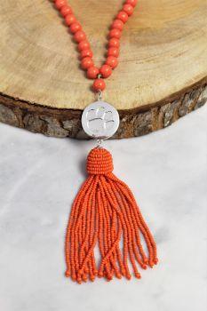 Clemson Lala Tassel Necklace