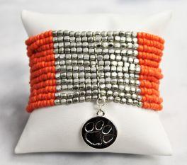 Clemson Lenox Stretch Bracelet