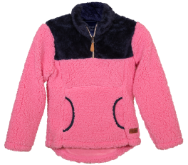Simply Southern Youth Sherpa Pullover - Pink