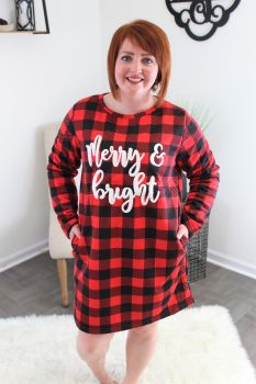 Simply Southern Very Merry Loungewear Dress