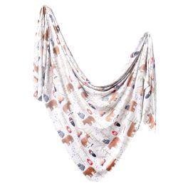 Knit Swaddle Blanket - Lumberjack