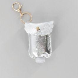 Hand Sanitizer Keychain - Silver