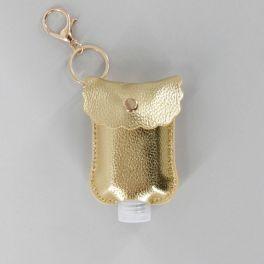Hand Sanitizer Keychain - Gold