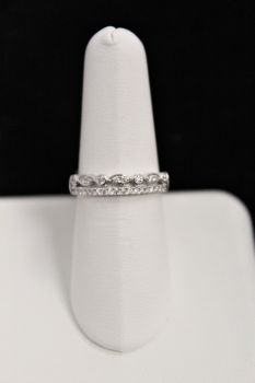 10K White Gold Diamond Stackable Band - .25CT