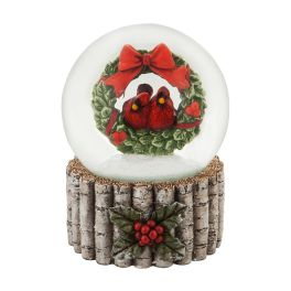 Cardinal & Wreath Water Globe