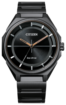 Mens Black Stainless Steel Drive Citizen Watch