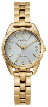 Ladies Gold-Tone Stainless Steel Drive Citizen Eco-Drive Watch