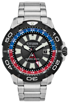 Mens Stainless Steel Promaster GMT Eco-Drive Watch