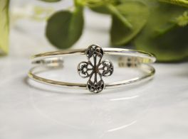 Charleston Gates St. Philips Small Cross Split Cuff Bracelet
