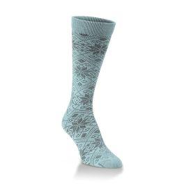 World's Softest Snowfall Crew Socks - Peacock