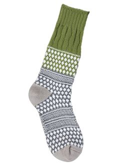 World's Softest Textured Crew Socks - Earthy