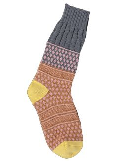World's Softest Textured Crew Socks - Golden Fields