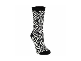 World's Softest Aztec Crew Socks - Black