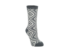World's Softest Aztec Crew Socks - Charcoal