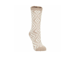 World's Softest Aztec Crew Socks - Taupe