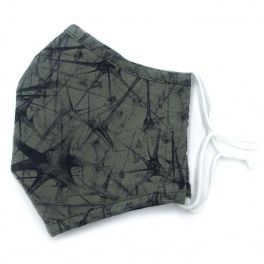 Adult Adjustable Face Mask - Olive Splatter