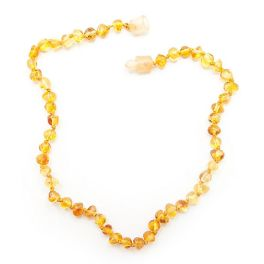 Yellow Baltic Amber Teething Necklace - 10.5""