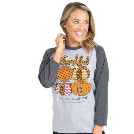 Simply Southern Thankful Raglan T-Shirt