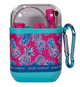Simply Southern Travel Straw - Pineapple