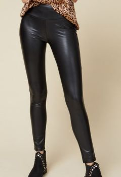 Memory Lane Faux Leather Legging - Black