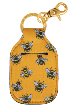 Hand Sanitizer Holder Keychain - Bee
