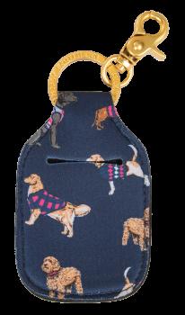 Hand Sanitizer Holder Keychain - Dog