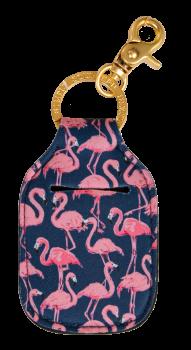 Hand Sanitizer Holder Keychain - Flamingo